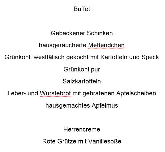 Grünkohlbuffet